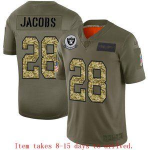 Oakland Raiders Josh Jacobs Jersey Camo